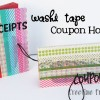 Washi Tape Coupon holder