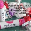 Pucker up Valentine Chapstick Lables {Free Printable}