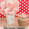 White Chocolate Peppermint Marshmallow Cocoa Sticks