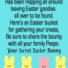 Secret Easter Bunny + Free Printable