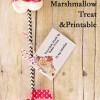 Cupid's Arrow Marshmallow Treats + Printable