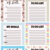 Goal Setting and To Do List Printable