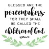 Blessed are the Peacemakers Free Printable