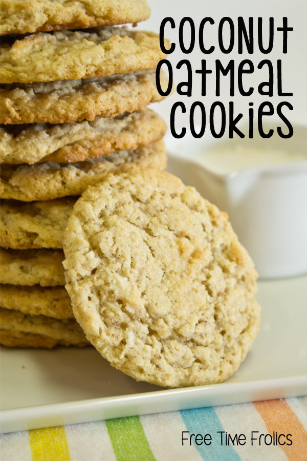 coconut oatmeal cookies recipe www.freetimefrolics.com #recipe