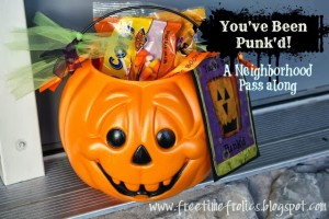 You've Been Punk'd!  Halloween neighbor treat