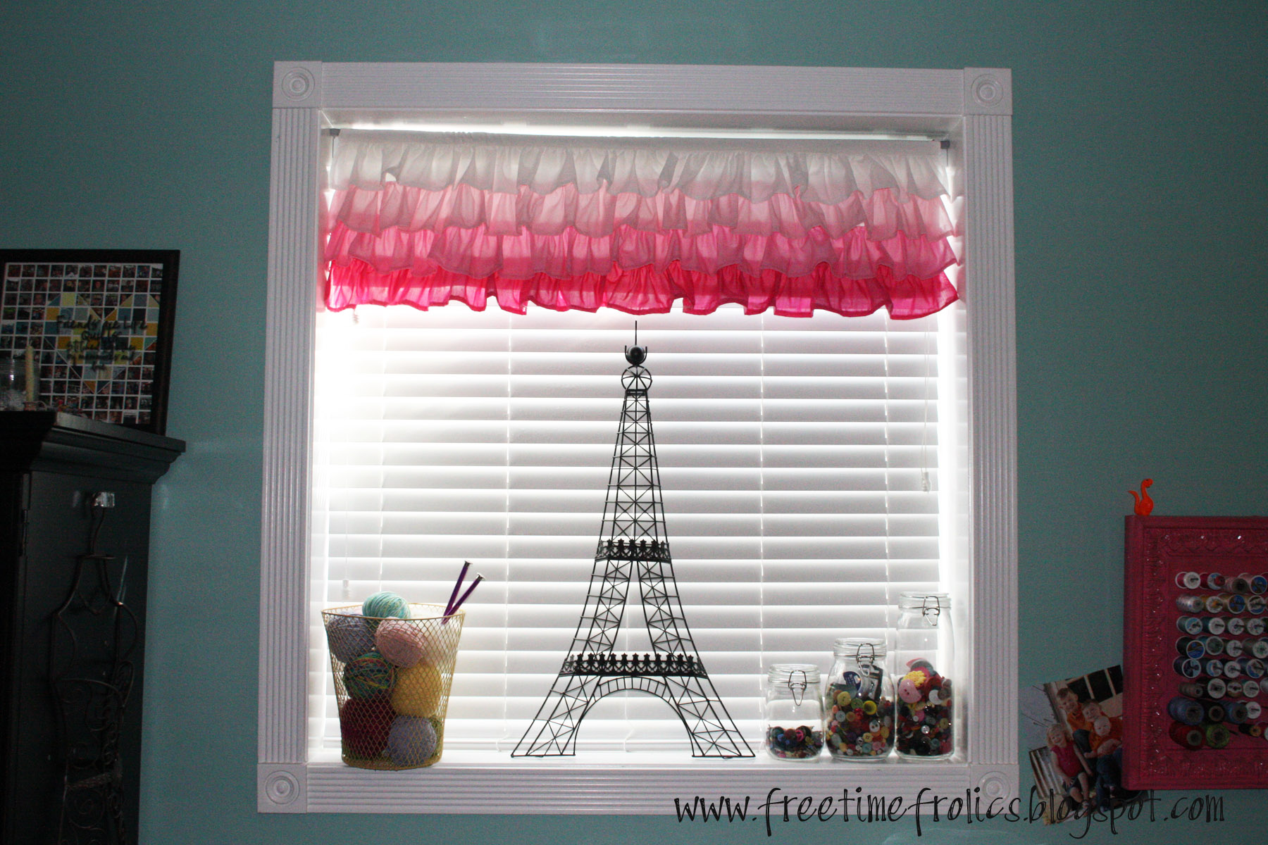 Pink ombre curtain www.freetimefrolics.com