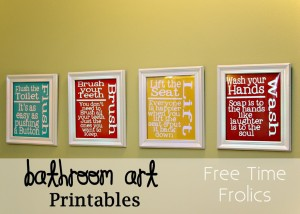 picture relating to Free Printable Bathroom Art known as Free of charge Toilet Artwork Printable