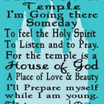 I Love to See the Temple Printable