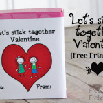 "Let's ""Stick"" together Valentine {Free Printable}"
