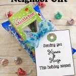 Christmas Mistletoe Neighbor Gift Hugs & Kisses