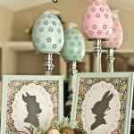 Mr. & Mrs. Bunny Silhouettes {Easter Mantel}