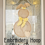 Embroidery Hoop Bunny Door Decor