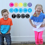 Easy Color Block Tees DIY