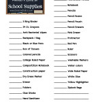 The Lazy Mom School Supplies Shopping List {Free Printable}