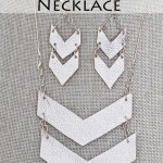 Leather Chevron/ Arrow Necklace and Earrings DIY