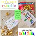 Rainbow Printable Tag and Bag Topper.