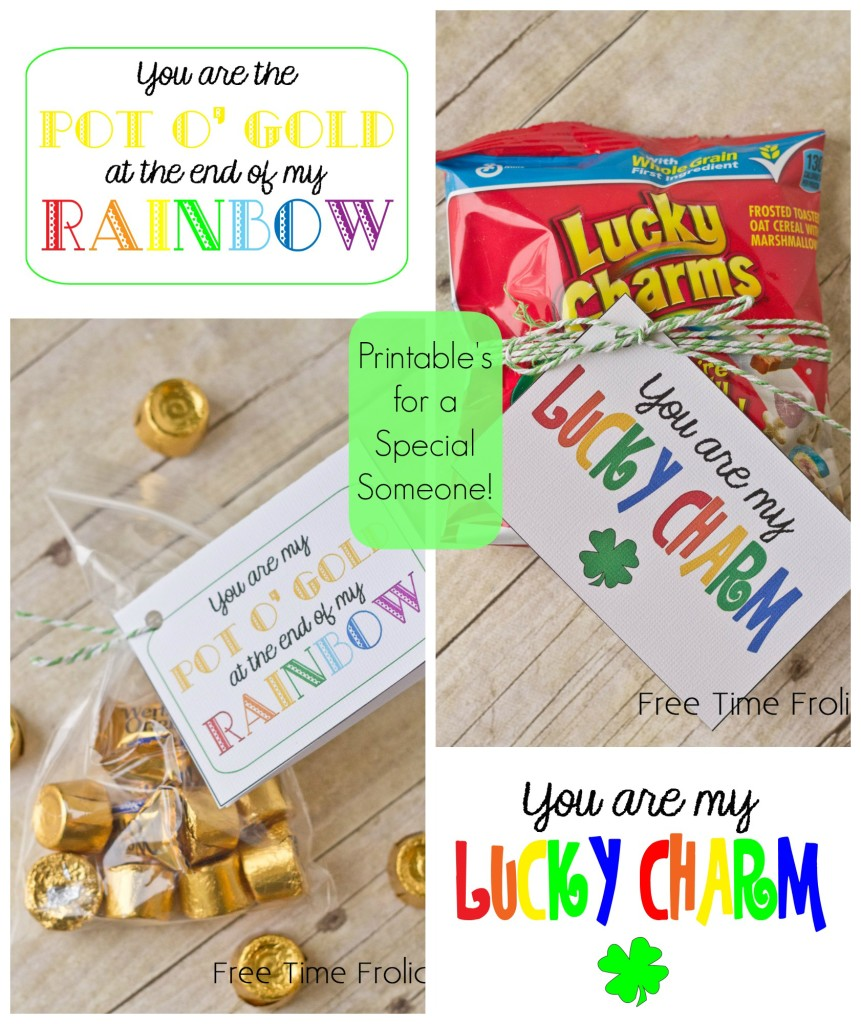 lucky charms, gold st. patricks day printable www.freetimefrolics.com