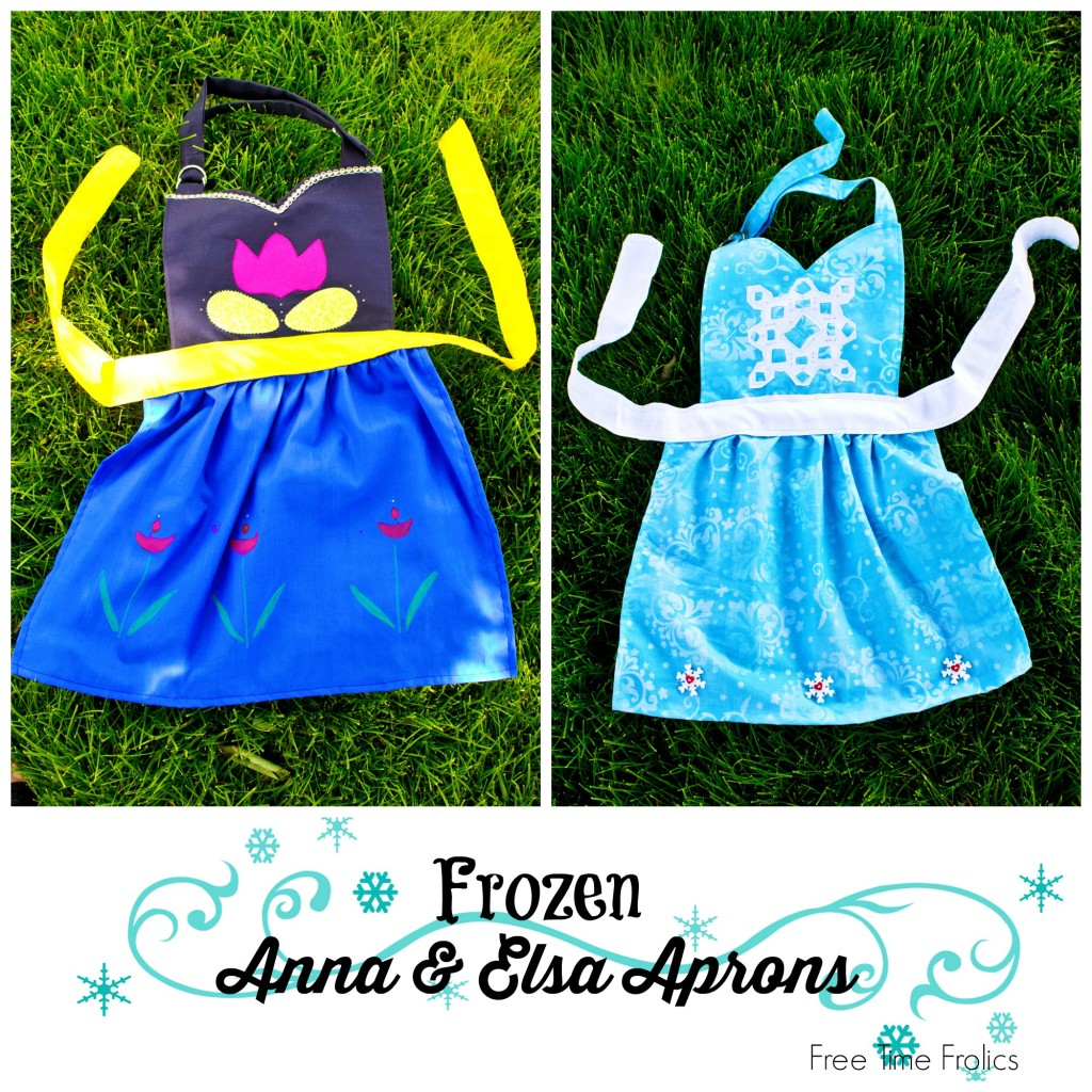 ann and elsa frozen aprons www.freetimefrolics.com