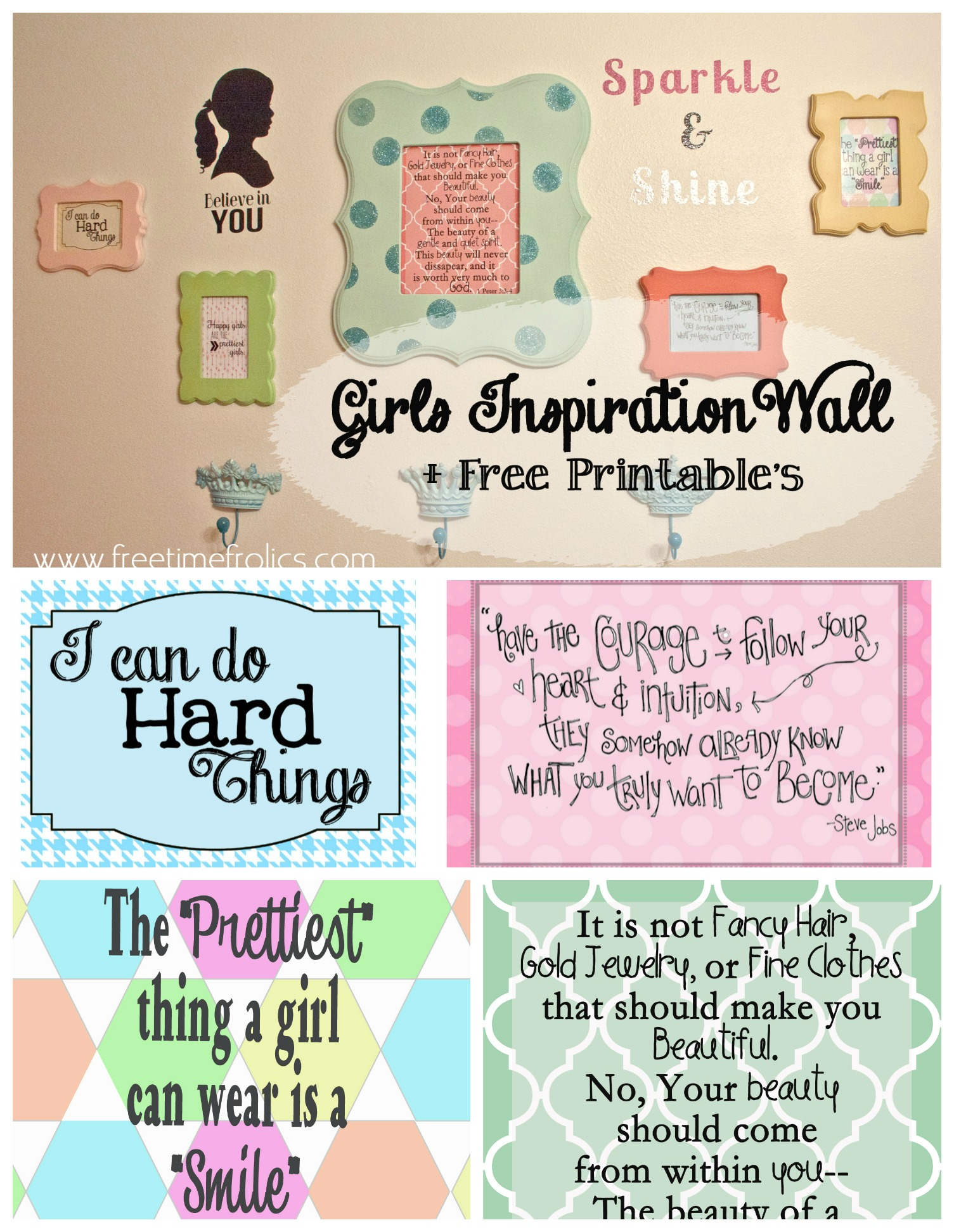 picture relating to Free Printable Inspirational Quotes titled Females Commitment Collage Wall + Free of charge Printable - Absolutely free Year