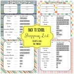 Back to School Blast! Shopping List {Free Printable} + Giveaway