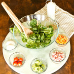 Easy DIY Salad Bar & Lazy Susan