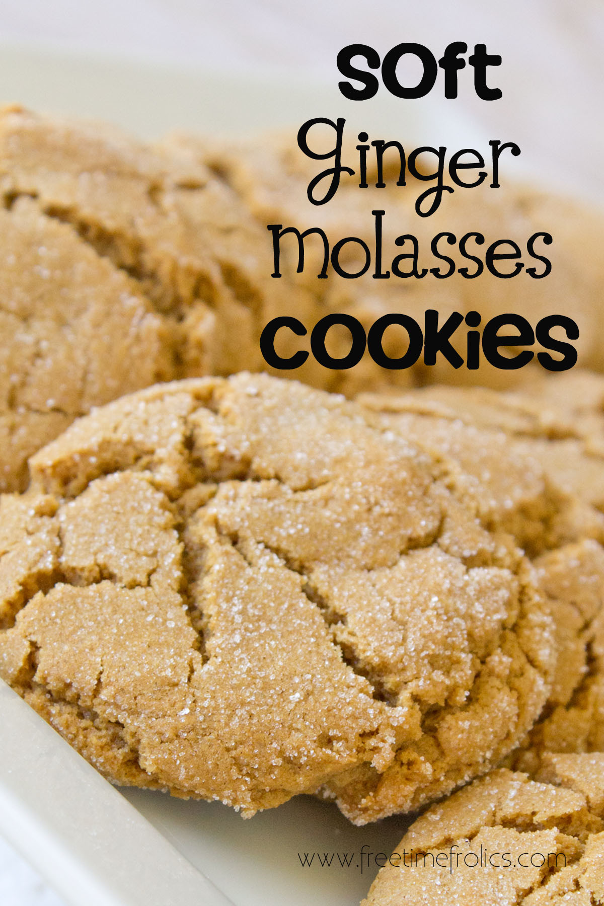 Soft Ginger Molasses Cookies {Recipe} - Free Time Frolics