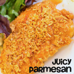 Juicy, Parmesan Chicken {Recipe}