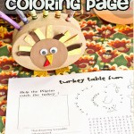 Turkey Table Kids coloring page