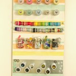 Craft Room Organizing – Craft Supplies Board