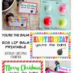 EOS lip balm Printable gift tags