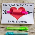 "Just ""write"" for me Classroom Valentine"