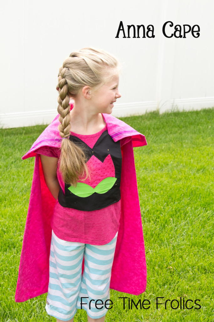 anna frozen cape diy www.freetimefrolics.com #sewing