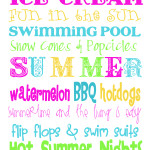 Summertime Free Printable