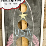 Chalkboard Bean Bag Toss DIY
