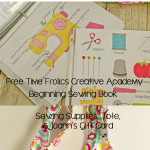 Learn to Sew & Unplugging Giveaway