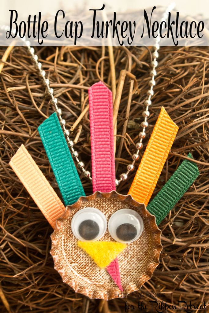 Bottle Cap Turkey Necklace Tutorial #turkey #thanksgiving #jewelry