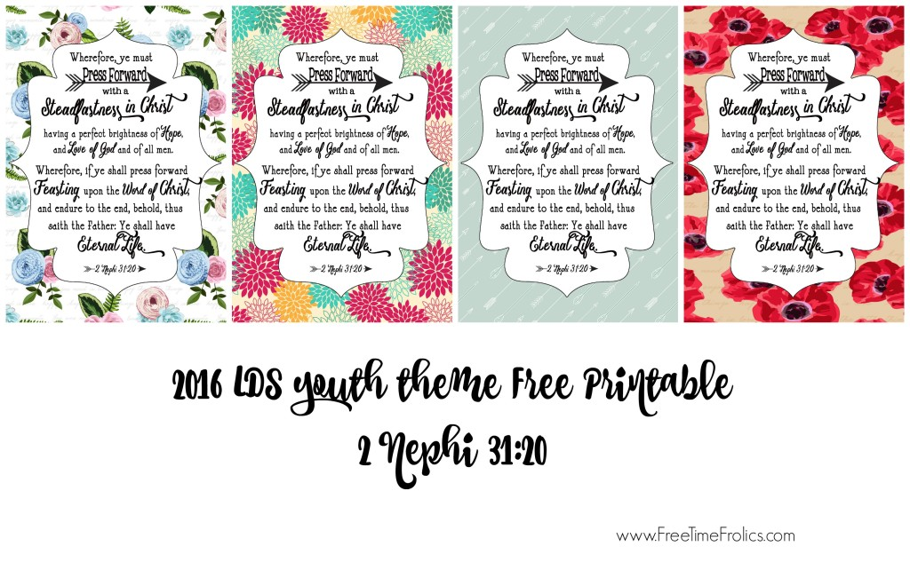 LDS Youth theme free printable www.freetimefrolics.com #LDS