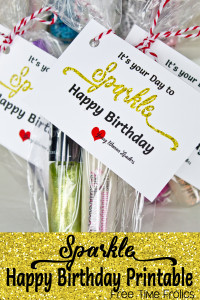 Sparkle Birthday Printable Tag
