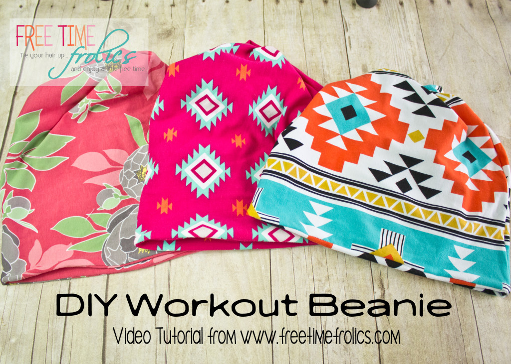 DIY workout beanie via www.freetimefrolics.com #exercise #videotutorial