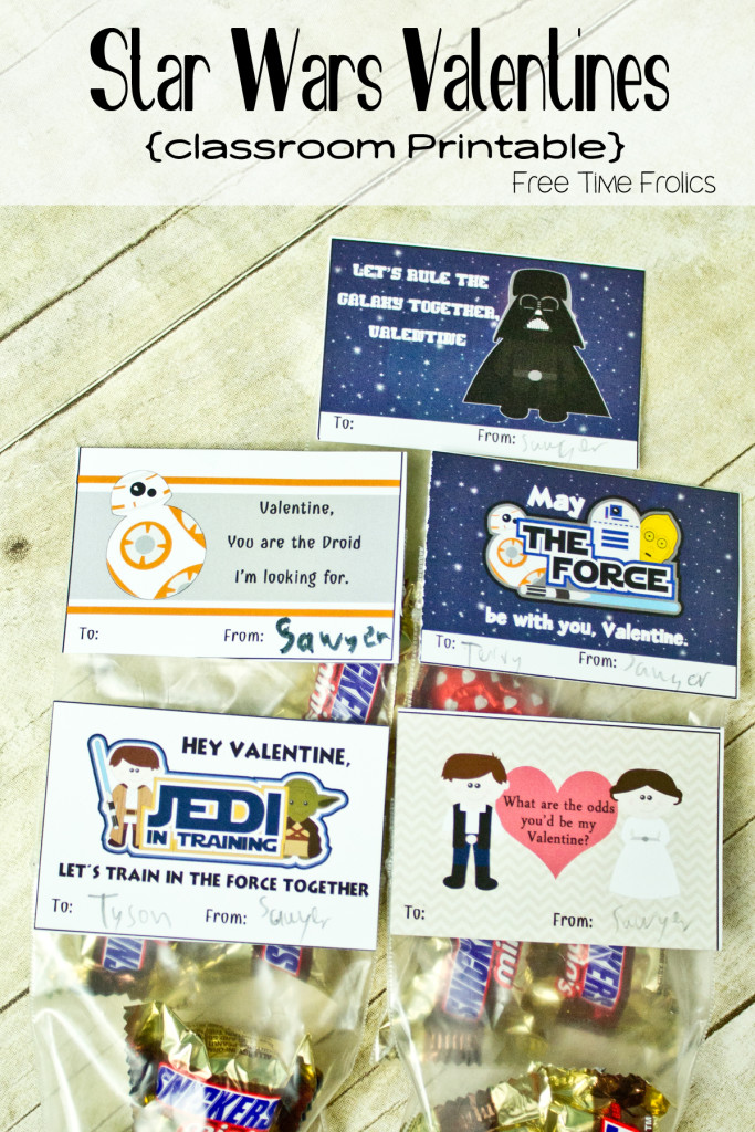 Star Wars classroom valentine via www.freetimefrolics.com #freeprintable