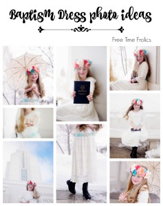 LDS Baptism Dress photo prop ideas