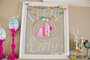 Ribbon Hoop Art Mantle www.freetimefrolics.com
