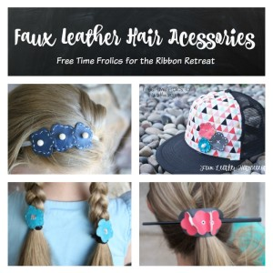 faux leather hair accessories www.freetimefrolics.com