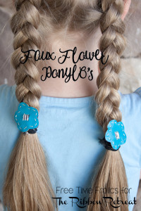 faux leather pony O's hair elastics www.freetimefrolics.com