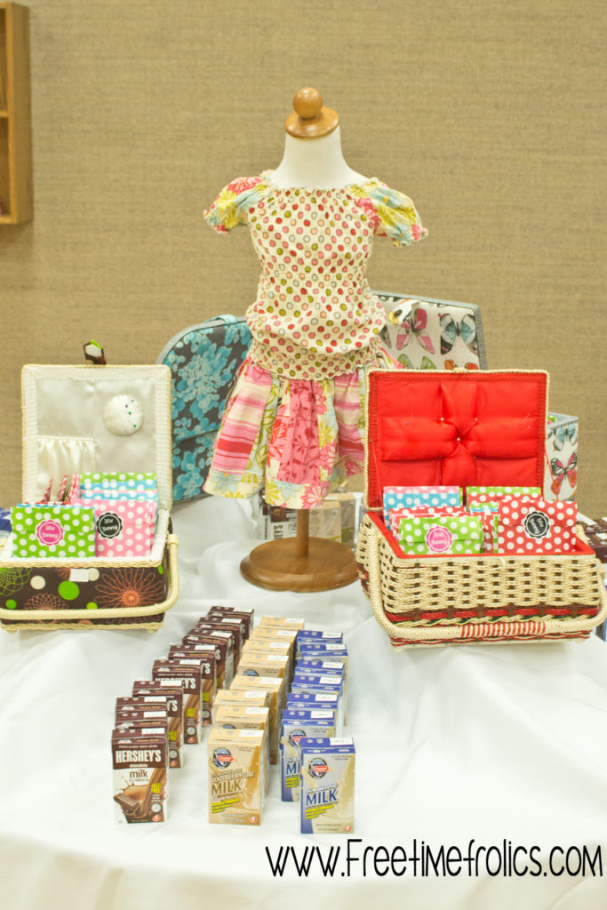 sewing boxes dessert table www.freetimefrolics.com