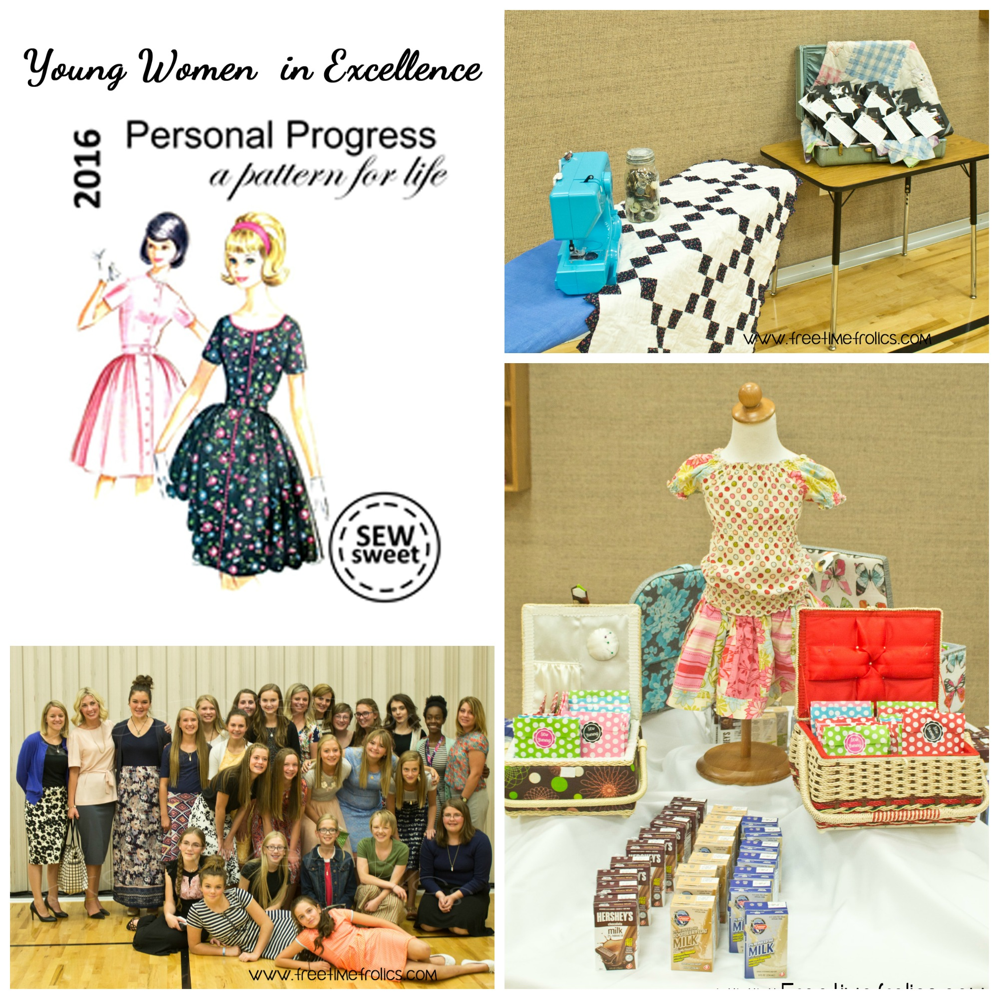 Young Women in Excellence sewing theme www.freetimefrolics.com