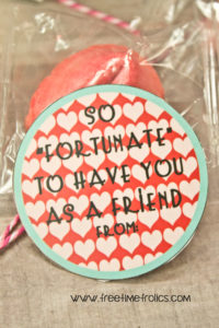 fortunate to have youas s friends fortune cookie valentine www.freetimefrolics.com