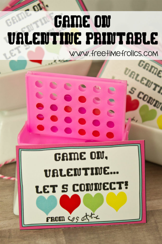 valentine game on printable just add a mini game for your valentine this year. www.freetimefrolics.com