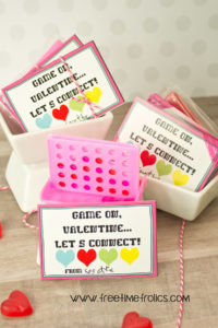 Game on Valentine, Free printable www.freetimefrolics.com just add a fun mini game for your valentine