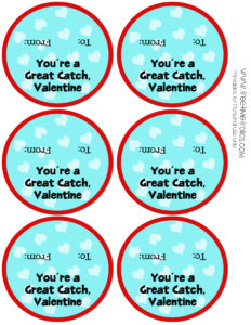You're a great catch valentine free printable for school classrooms www.freetimefrolics.com